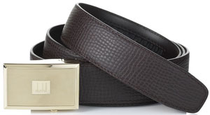 Dunhill Panel Automatic Brown Men's Belt: US$300.