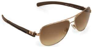 Dunhill aviator carbon fibre gold sunglasses: US$495.