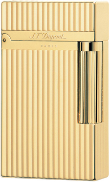 S.T. Dupont Gold Montparnasse Vertical Lines Lighter: €670.