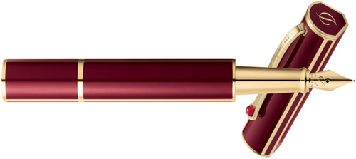 S.T. Dupont Fountain pen Mon Dupont, Lotus red lacquer & gold: €550.
