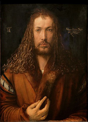 Self-Portrait (1500) by Albrecht Dürer.
