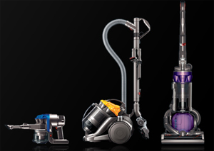 Dyson vacuum cleaners.