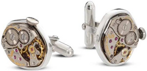 Allen Edmonds Vintage Watch Movement Cufflinks: US$160.
