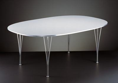 Superellipse dining table by Piet Hein and Bruno Mathsson.
