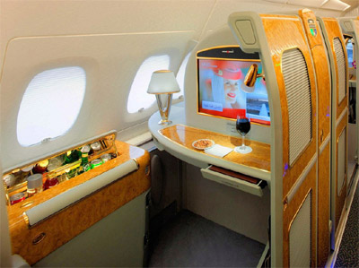 Emirates A380 First Class Private Suite.