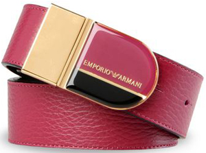 Emporio Armani women's belt in printed calfskin: US$375.