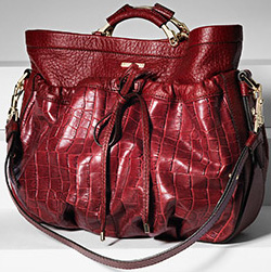 Escada Mid-Sized Hobo Handbag.
