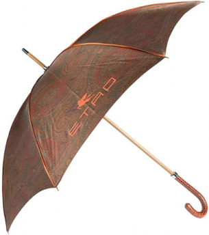 Signature paisley print umbrella is from Etro's monsoon collection.