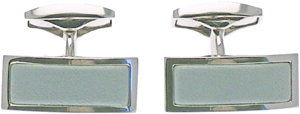 Ettinger Lifestyle Pale Blue Cufflinks - Rectangular: US$90.