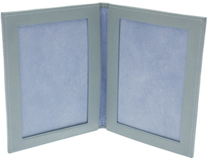 Ettinger Lifestyle Pale Blue 7x5 Leather Bound Double Photo Frame: €226.80.