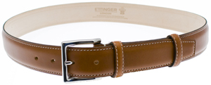 Ettinger Dark Tan Waxy Leather men's belt: €170.10.