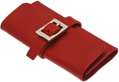 Ettinger Lifestyle Red Large Jewellery Roll: £155.