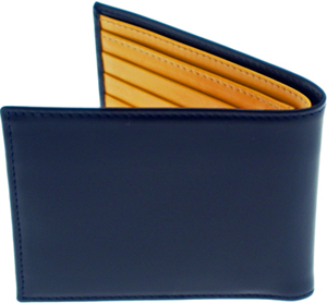 Ettinger Bridle Hide Navy Billfold Wallet: £150.
