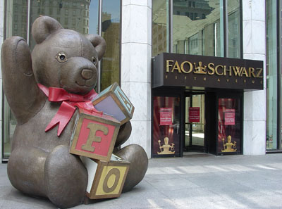 FAO Schwarz Flagship Store: (General Motors Building) 767 5th Avenue @ 58th St., New York City, NY 10153.