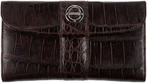 Farbod Barsum Ladies' Wallet with stripe overlay.