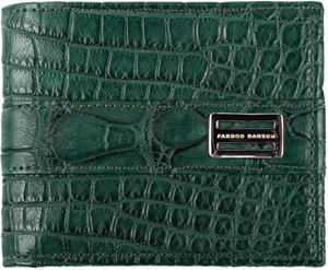 Farbod Barsum Cypress Green American Alligator Wallet.