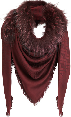 Fendi Women's Logo Shawl.