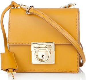 Salvatore Ferragamo Shoulder Bag in Calfskin: US$995.