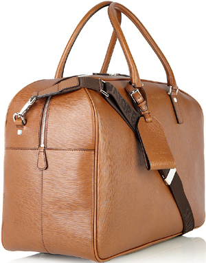 Salvatore Ferragamo Men's Weekend Duffle Bag in Embossed Calfskin: €1,600.