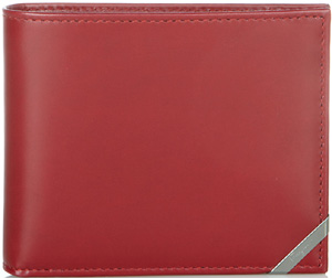 Salvatore Ferragmo bifold in crimson smooth calfskin wallet: US$320.