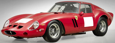 Ferrari 250 GTO Berlinetta (1962-1963) - world's most expensive car sold at auction: US$38,115,000.