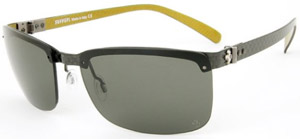 Ferrari 599XX Men's Sunglasses - Carbon Fiber and Yellow Alutex: US$558.