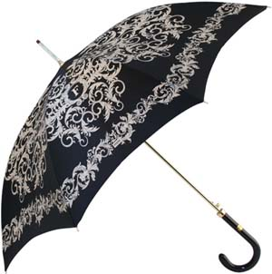 Ferré Black with Beige Arabesque Umbrella: £75.