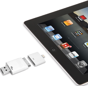 Hammacher Schlemmer - The Only Read and Write iPad Flash Drive.