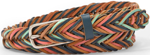 Fossil Fishtail Braid Belt: £39.