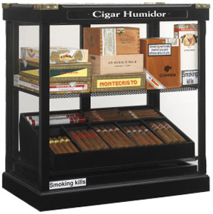 Hunters & Frankau display humidor.