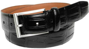 Fullum & Holt 35mm hand stitched and feather edged, Tuareg leather men's belt.