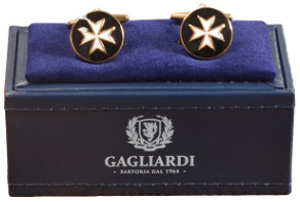 Gagliardi Maltese Cross Gold Cufflinks: €29.