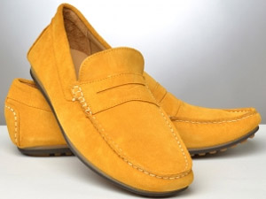 Gagliardi Saffron Slip-On Suede Loafers: €150.