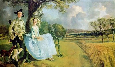 Mr. and Mrs. Andrews (1750) by Thomas Gainsborough.