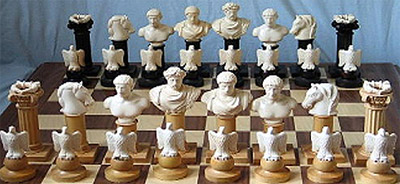 Elizabeth Gann luxury chess sets.