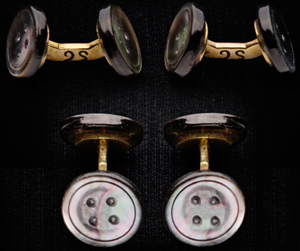 Samuel Gassmann Pomp and circumstance shape Cufflinks.