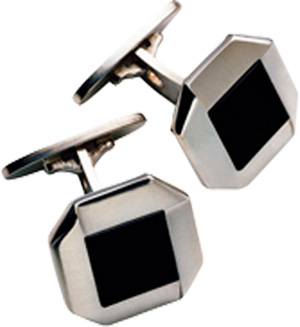 Georg Jensen PIAZZA cufflinks - sterling silver with black onyx: US$410.