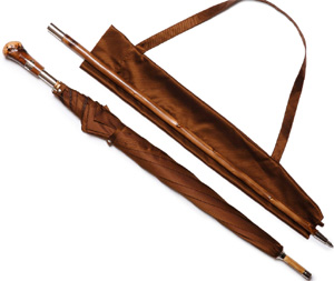 Ghurka Newport Umbrella No. 90 Chestnut Leather: US$495.