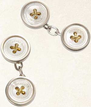 Gieves & Hawkes Mother of Pearl Button Cufflink: £150.