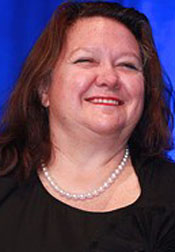 Georgina 'Gina' Hope Rinehart.