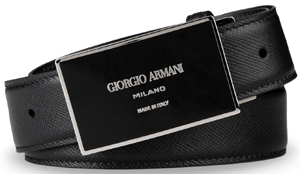 Giorgio Armani Men's Belt in Saffiano Calfskin: US$425.