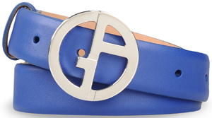 Giorgio Armani Leather Women's Belt with Logoed Buckle: US$395.