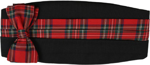 Gitman Bros. Cummerbund Set - Red Plaid: US$169.