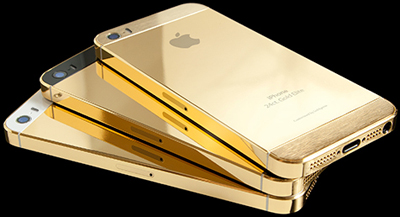 Gold iPhone 5S.