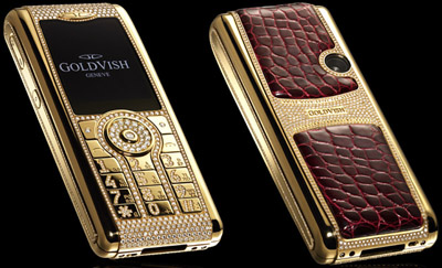 Goldvish luxury mobile phones.