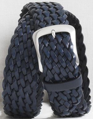 Graae Men's Braided casual belt - marine: €240.