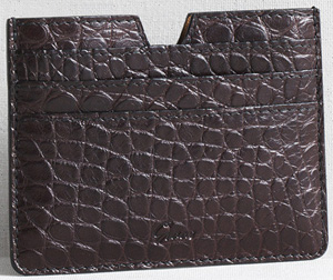 Graae 6 card holder in alligator - dark brown: €540.