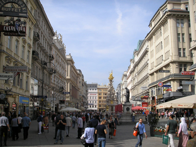 Graben is a pedestrianized street in the center of Vienna and the heart of Vienna's most famous shopping streets.