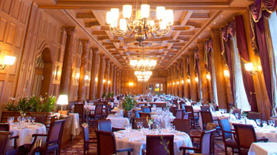 Grand Restaurant, Suvretta House, Via Chasellas 1.