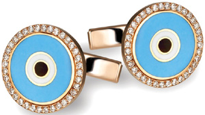 De Grisogono - Cufflinks in white gold and diamonds.